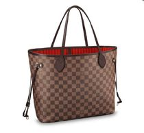 Louis Vuitton NEVERFULL Other Plaid Patterns Canvas Blended Fabrics A4 2WAY Bi-color
