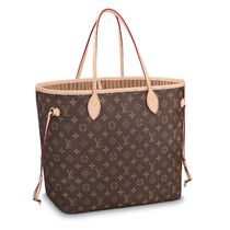 Louis Vuitton NEVERFULL Monogram Canvas Blended Fabrics A4 2WAY Bi-color