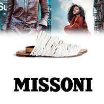 MISSONI Round Toe Casual Style Plain Leather Sandals Sandal