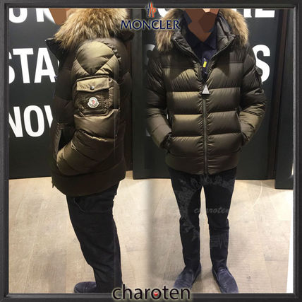 4d4cc61bcbbd MONCLER MARQUE 2018-19AW Short Fur Blended Fabrics Street Style ...