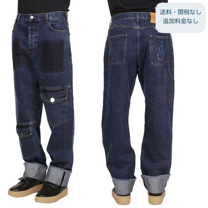 Casual Style Cotton Long Jeans