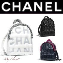 CHANEL SPORTS Casual Style Nylon Blended Fabrics Street Style A4 Plain