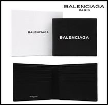BALENCIAGA Leather Folding Wallets