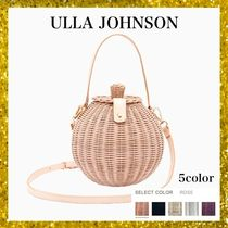ULLA JOHNSON Casual Style Street Style 2WAY Plain Handmade Straw Bags