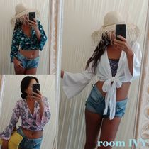 room IVY Short Tropical Patterns Casual Style Cropped Handmade Shawls