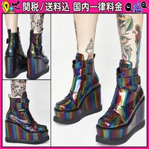 DOLLS KILL Platform Round Toe Casual Style Ankle & Booties Boots