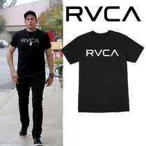 RVCA Street Style Plain Cotton Short Sleeves T-Shirts