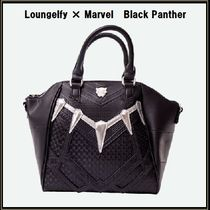 LOUNGE FLY Star Casual Style Faux Fur Collaboration 2WAY Handbags