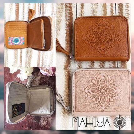 Tassel Leather Handmade Folding Wallets