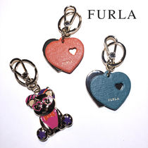FURLA Heart Leather Keychains & Bag Charms