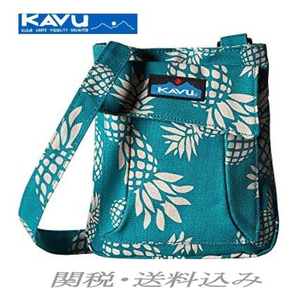Tropical Patterns Casual Style Canvas Shoulder Bags