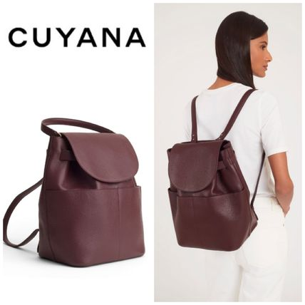 5a26568351 CUYANA 2018 SS Casual Style Plain Leather Backpacks by CREAW - BUYMA