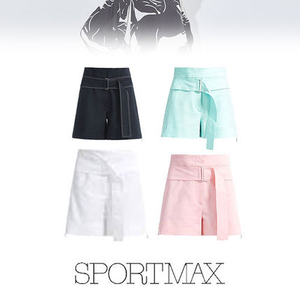 Short Plain Cotton Denim & Cotton Shorts