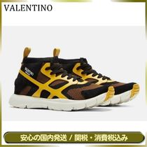 VALENTINO Unisex Studded Street Style Leather Sneakers