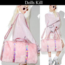 DOLLS KILL Casual Style Faux Fur 2WAY Plain Boston & Duffles