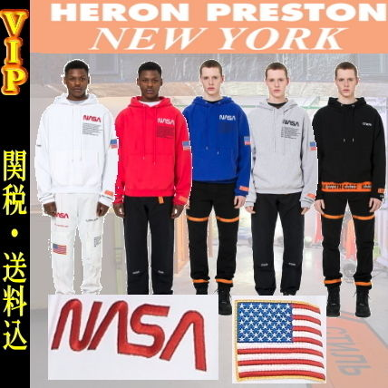 Heron Preston Hoodies Unisex Street Style Long Sleeves Cotton Hoodies