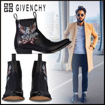 GIVENCHY Plain Leather Engineer Boots