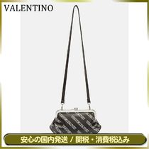 VETEMENTS Monogram Casual Style Street Style Leather Shoulder Bags