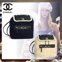 CHANEL Casual Style Calfskin Chain Backpacks