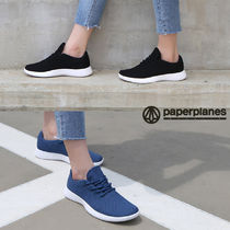 paperplanes Round Toe Rubber Sole Casual Style Unisex Low-Top Sneakers