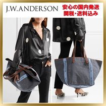 J W ANDERSON Casual Style Unisex Canvas A4 Plain Totes
