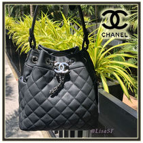 CHANEL MATELASSE Calfskin 3WAY Chain Plain Elegant Style Handbags