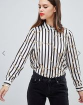 ASOS Stripes Casual Style Long Sleeves High-Neck Shirts & Blouses