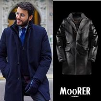 MOORER Cashmere Blended Fabrics Long Chester Coats