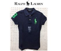 POLO RALPH LAUREN Short Casual Style Plain Cotton Short Sleeves Cropped