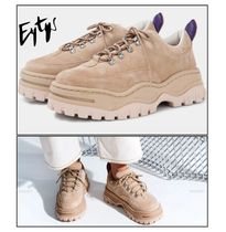Eytys Unisex Suede Blended Fabrics Street Style Plain Sneakers