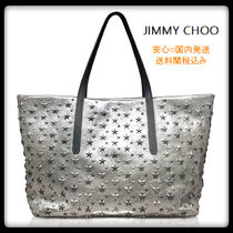 Jimmy Choo Star Studded Leather Totes