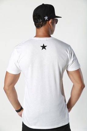 Pullovers Star Street Style V-Neck Cotton Short Sleeves