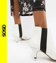 ASOS Casual Style Faux Fur Pin Heels Ankle & Booties Boots