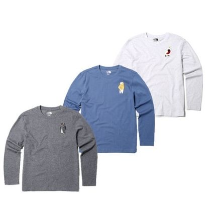 THE NORTH FACE More T-Shirts Long Sleeves Plain Other Animal Patterns Cotton T-Shirts 7