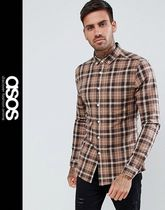 ASOS Other Check Patterns Long Sleeves Shirts