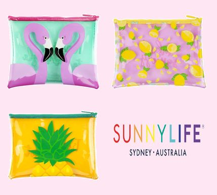 Tropical Patterns PVC Clothing Pouches & Cosmetic Bags