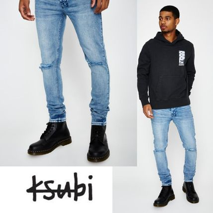 Denim Plain Skinny Fit Jeans & Denim