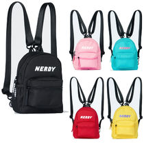NERDY Unisex Street Style 3WAY Plain Backpacks