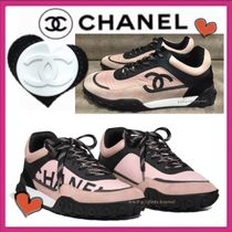 CHANEL SPORTS Casual Style Bi-color Low-Top Sneakers