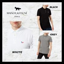 MAISON KITSUNE Pullovers Unisex Street Style Plain Cotton Short Sleeves