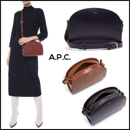 Casual Style Calfskin 2WAY Plain Shoulder Bags