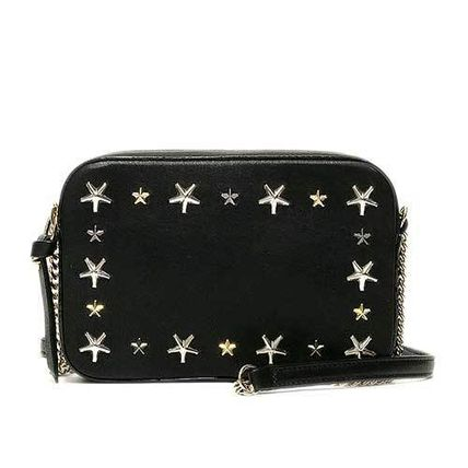 Star Casual Style Studded Shoulder Bags