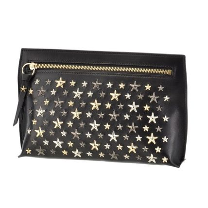 Star Casual Style Studded Clutches