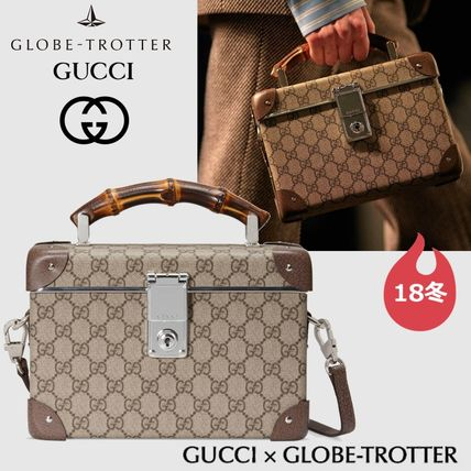 Gucci Handbags Monogram Canvas Collaboration 2way Elegant Style
