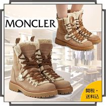 MONCLER Mountain Boots Round Toe Rubber Sole Casual Style Suede