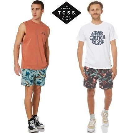 Tropical Patterns Street Style Cotton Shorts