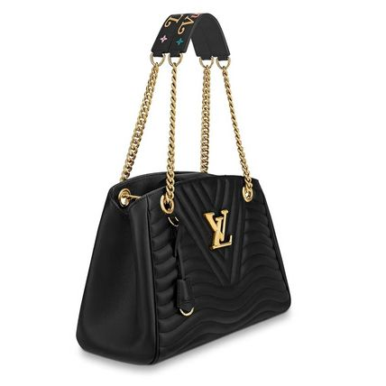 28bf58818743 ... Louis Vuitton Totes Blended Fabrics 3WAY Chain Plain Leather Elegant  Style Totes 3 ...