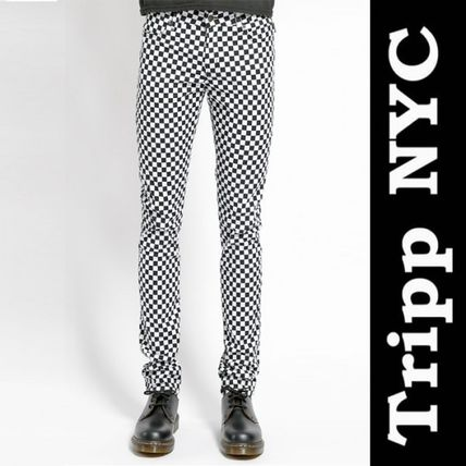 Other Check Patterns Unisex Street Style Cotton