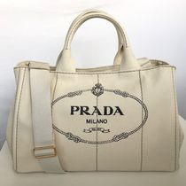 PRADA CANAPA Casual Style Unisex A4 2WAY Totes