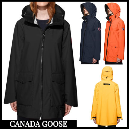 CANADA GOOSE Down Jackets Casual Style Blended Fabrics Street Style Plain Medium ...